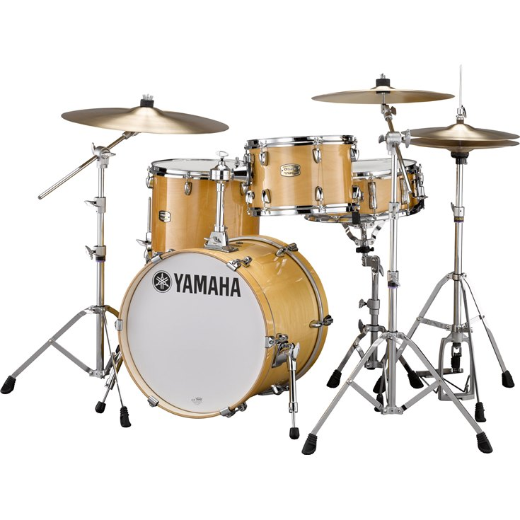 Yamaha Stage Custom Bop Acoustic Drumset Raven Natural